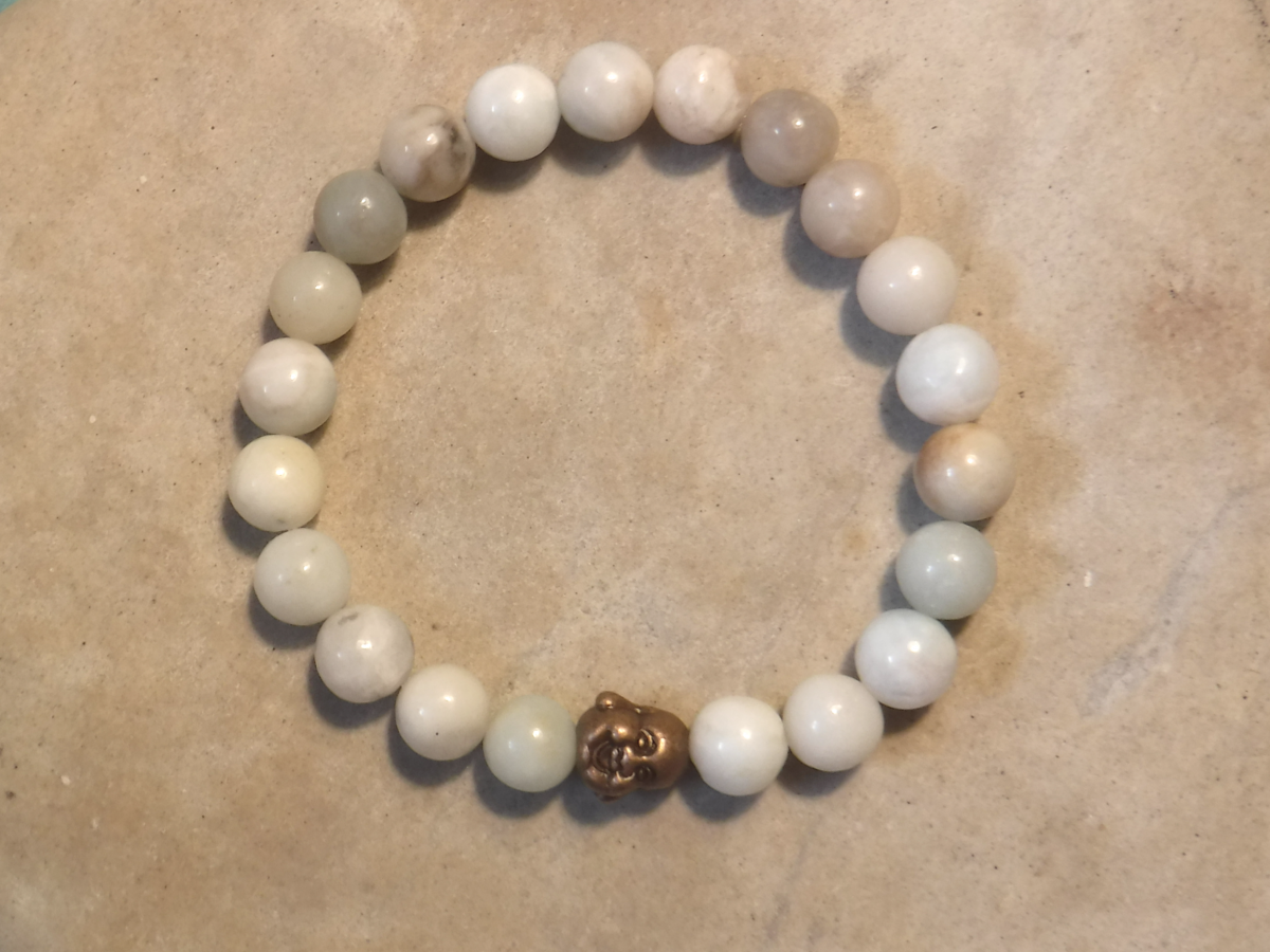 BE CONFIDENT: Amazonite and Happy Buddha