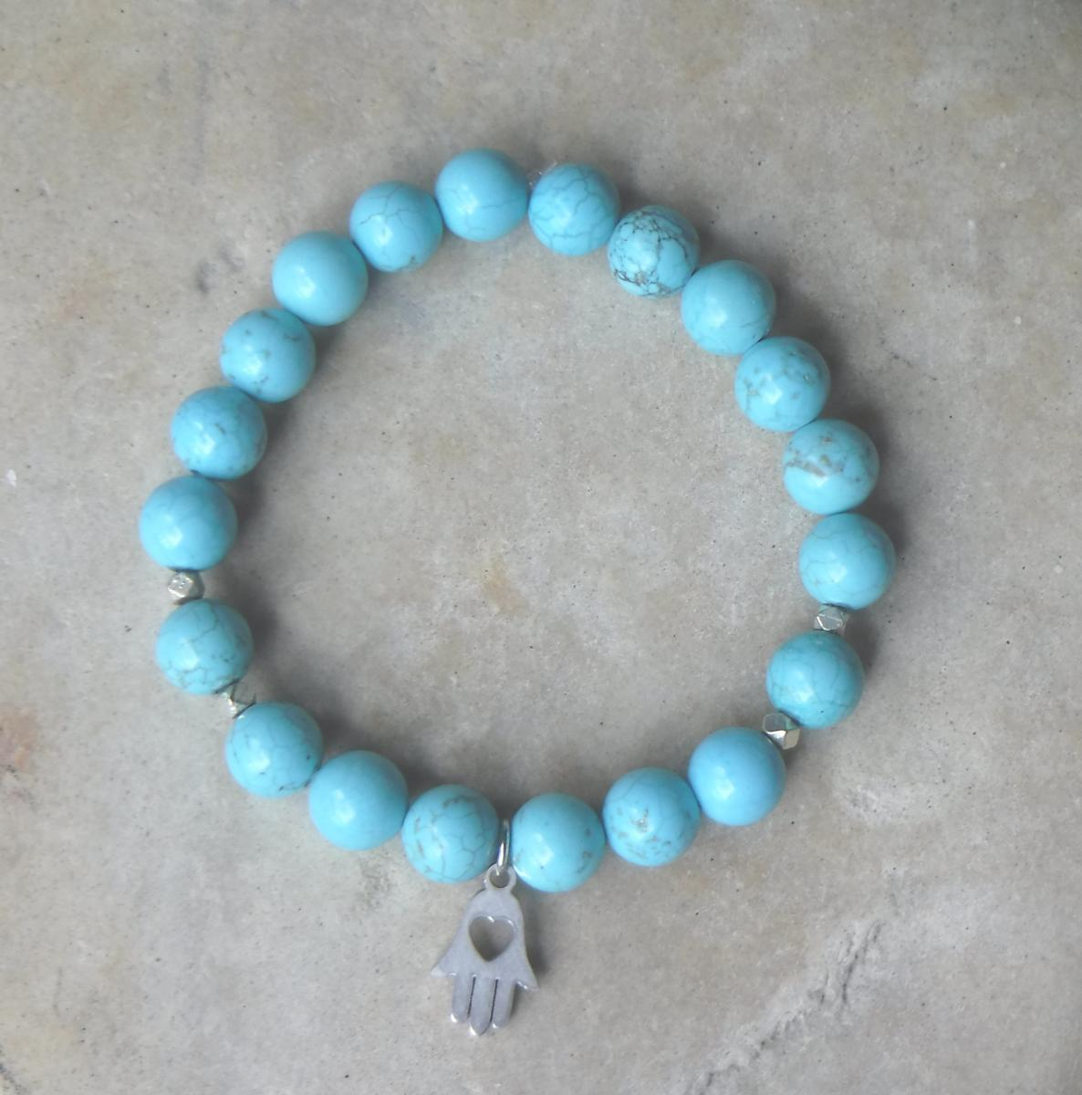 BE PROTECTED:  Turquoise with Hamsa