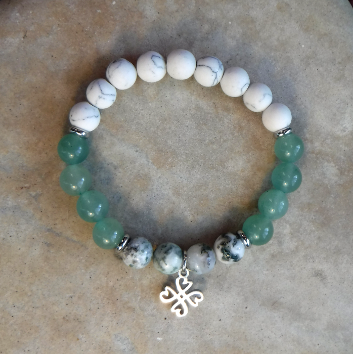 BE LUCKY: Aventurine, Agate and Howlite