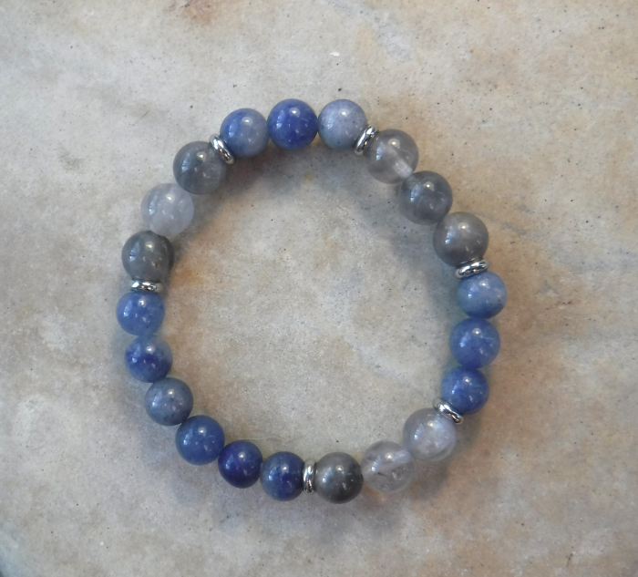 BE PROTECTED: Blue Spot Stone and Smoky Quartz