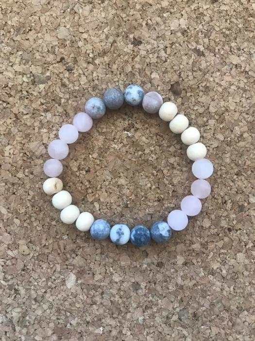 Make your own Bracelet: I am Strong and Connected to Love.