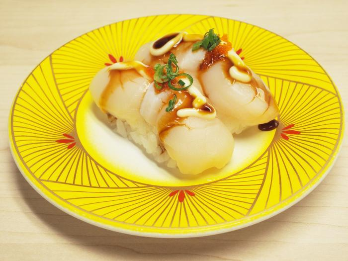 12. Scallop (Hotate) Sushi (2 pcs)
