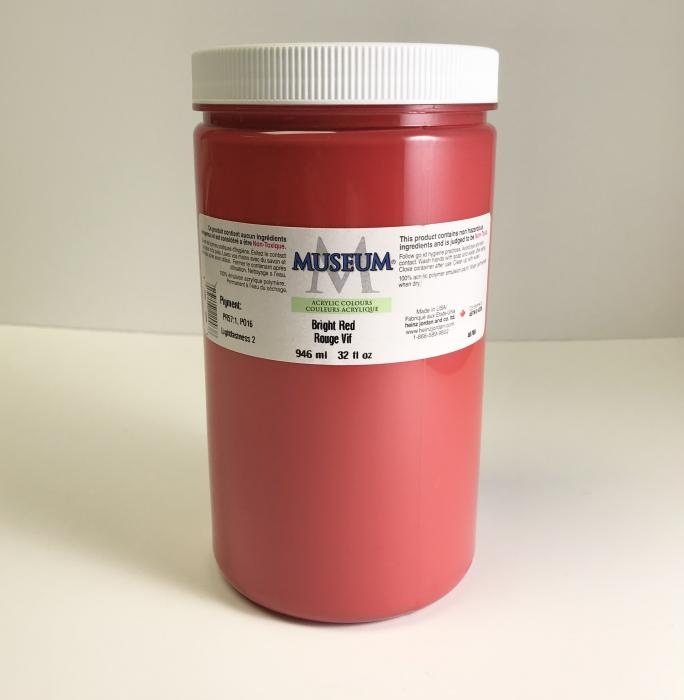 Museum Acrylic Paints - Bright Red, 946ml