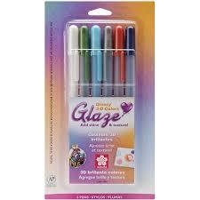 Gelly Roll Glaze Pens - set of 6 Assorted colours