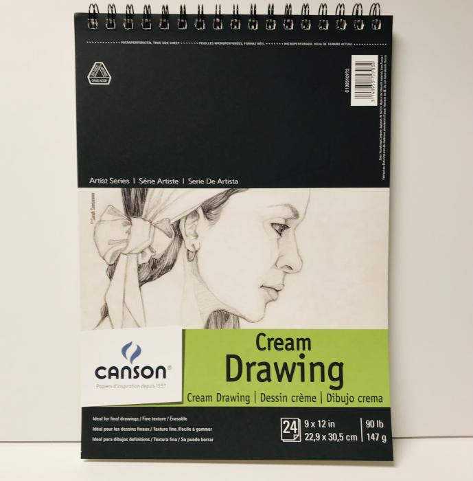 Canson Cream Drawing Pad 9x12