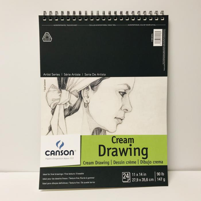 Canson Cream Drawing Pad 11x14