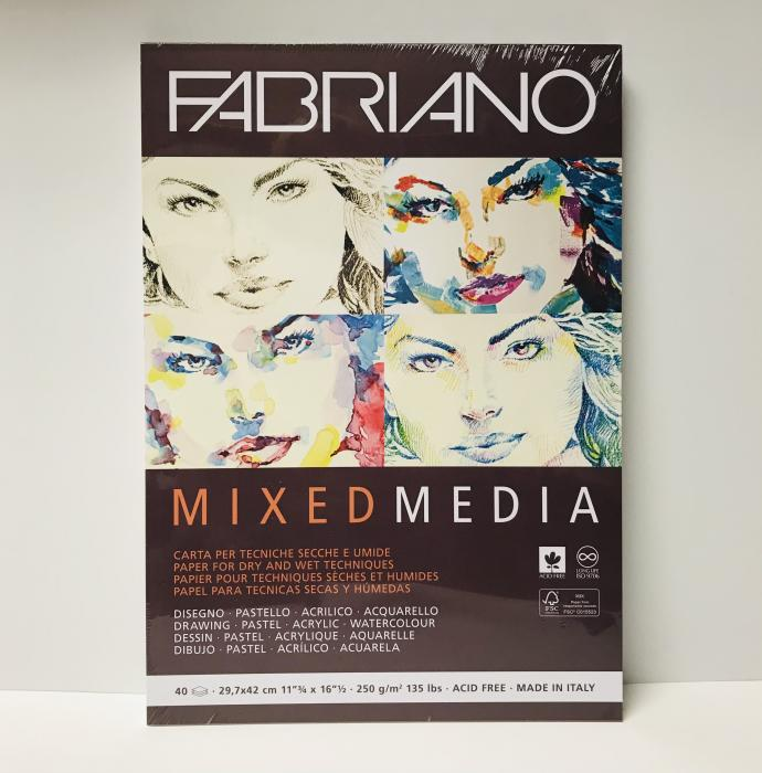 'Fabriano Mixed Media Pads- multiple sizes available