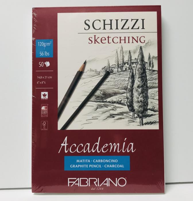 'Fabriano Accademic Sketching Pad 6''x8.25'''