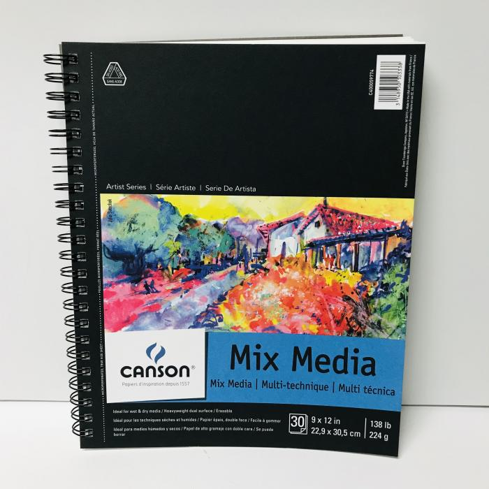 """Canson Mixed Media Sketch Book - 9""""x12"""""""