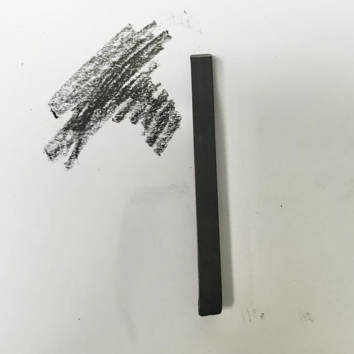 Compressed Charcoal - 6B square stick