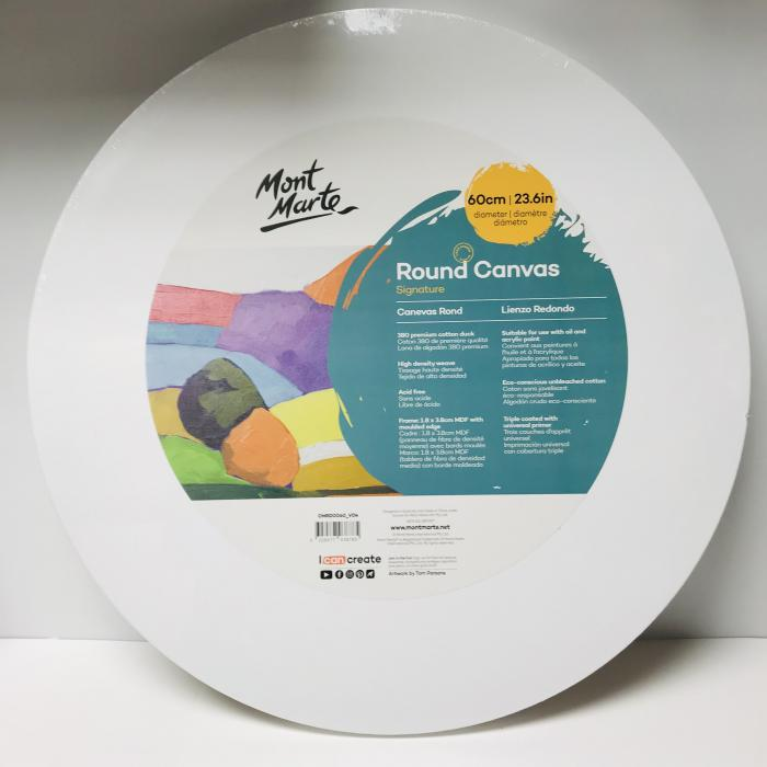 """Circular Canvases- size 24"""""""
