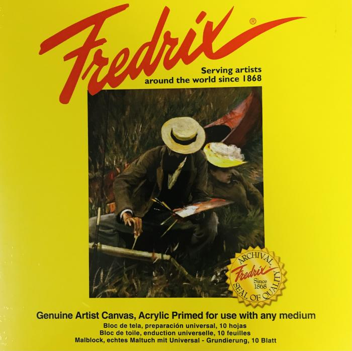 """Fredrix Canvas Pads -  Sizes 9""""x12"""" up to 18""""x20"""""""