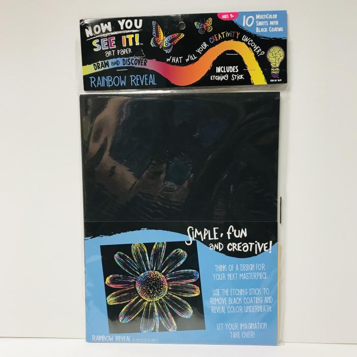 Rainbow Reveal - Scratch Art Sheets, Package of 10