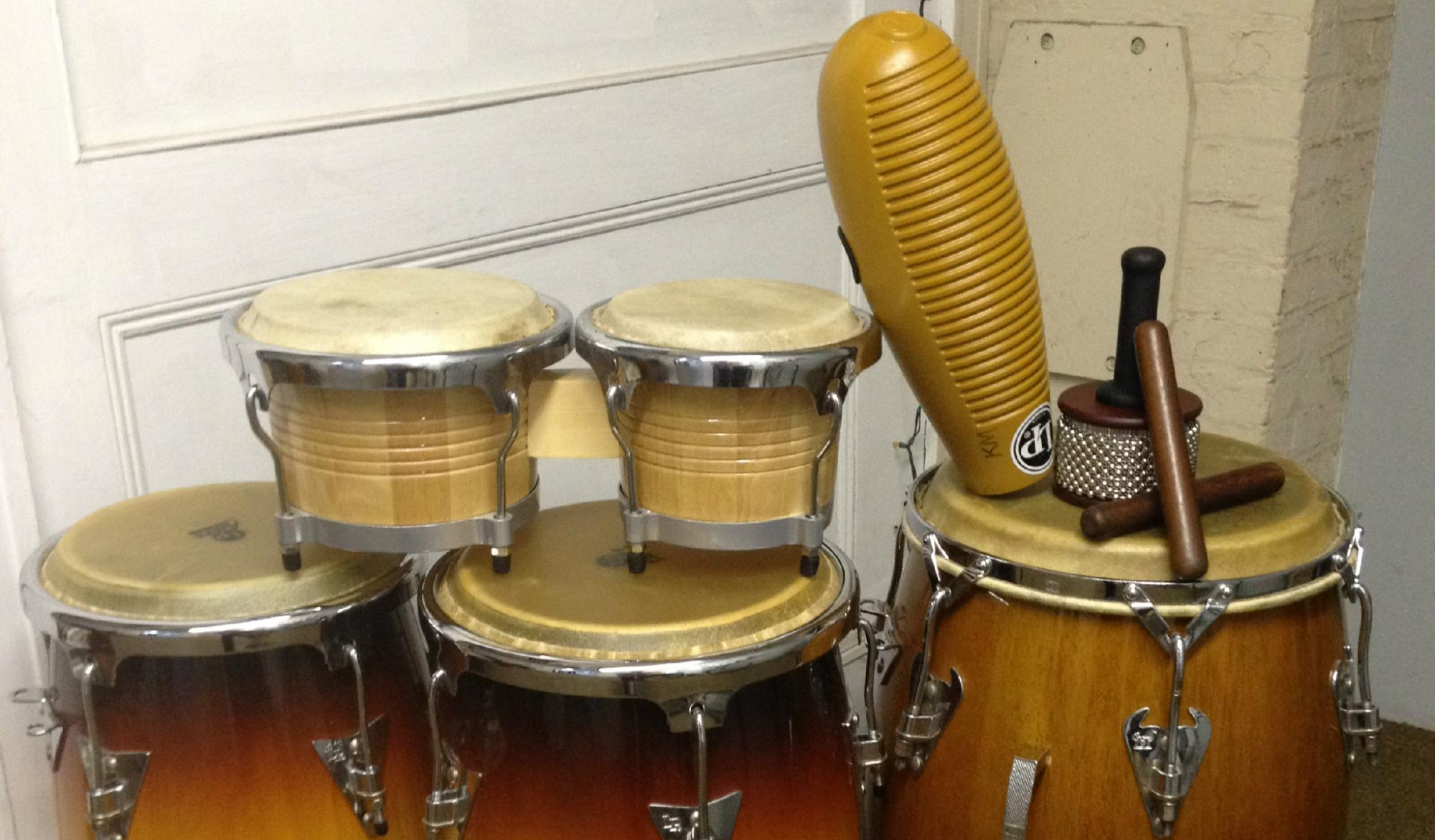 New for 2016: The Drum Den's Latin Percussion Ensemble