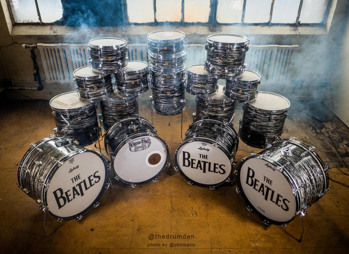 60s Ludwigs In the Coveted Oyster Black Pearl Ringo Finish, Now At Drum Den!