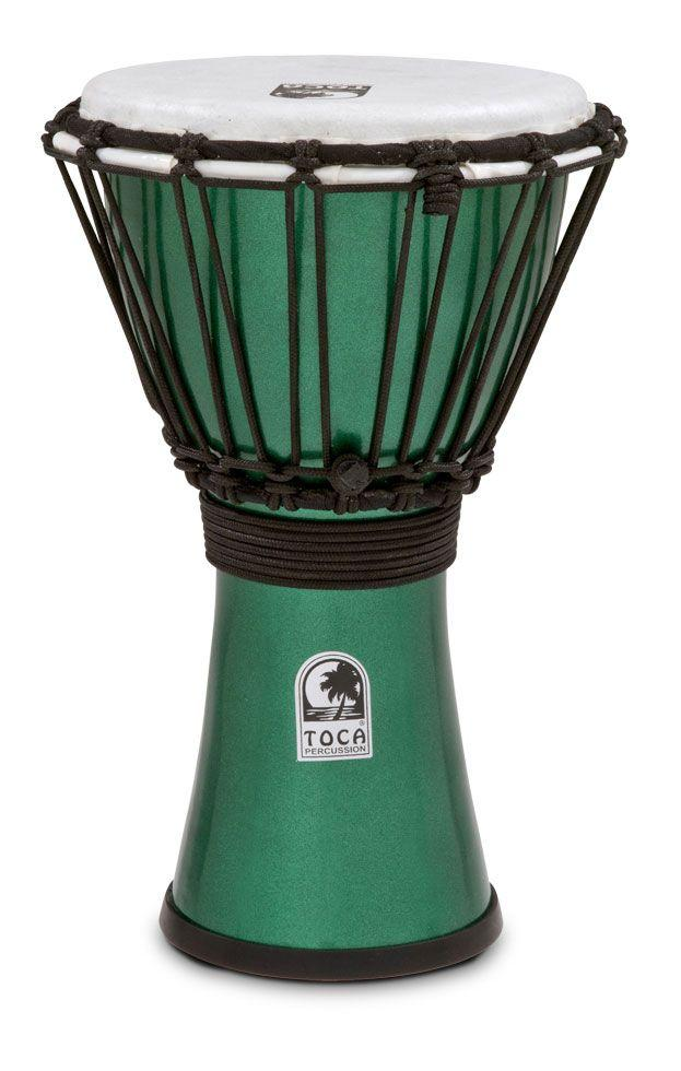"Freestyle Colorsound 7"" Djembe Metallic Green"