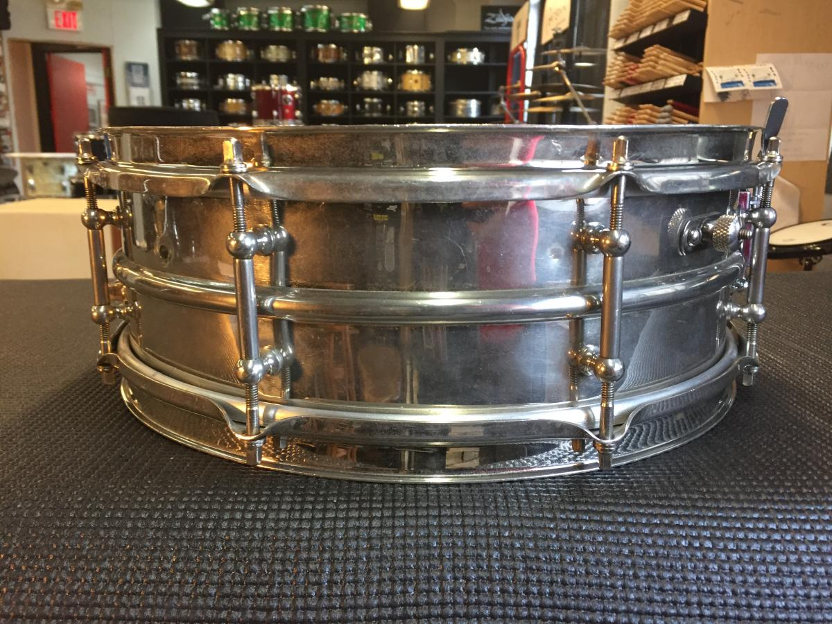 Ludwig Vintage 14 x 5 NOB Nickel Over 2pc Brass Snare