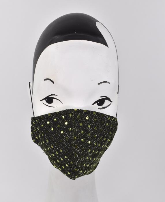 A green glitter Face mask for fashionistas